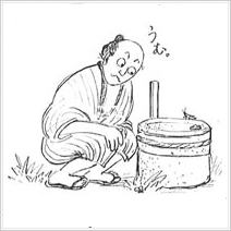 イラスト5. 石臼挽きの粉はなぜうまい?