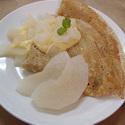 レシピ画像:梨とカスタードクリームのガレット