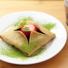 レシピ画像:あんこの和風抹茶ガレット