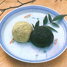 レシピ画像:そば米入りおはぎ
