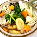 レシピ画像:みそキムチすいとん鍋