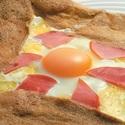 レシピ画像:ガレット(そば粉のクレープ)