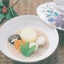 レシピ画像:そば米と野菜盛合せ