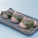 レシピ画像:そば米の桜餅