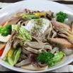 レシピ画像:彩り野菜のそばパスタちゃんちゃん焼風