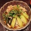 レシピ画像:ナスと鶏そぼろ冷かけ蕎麦