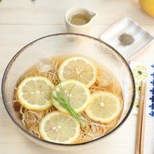 レシピ画像:レモンそば