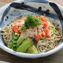 レシピ画像:夏野菜のごまダレそば