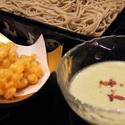 レシピ画像:もろこし天と枝豆豆乳せいろ