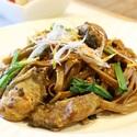 レシピ画像:カキとほうれん草のそば味噌パスタ