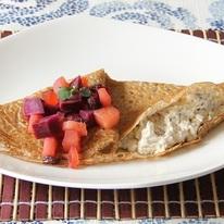 レシピ画像:さつまいもとりんごのクリームチーズガレット