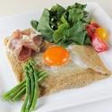 レシピ画像:ガレット・コンプレート~アスパラと生ハム添え~