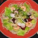 レシピ画像:キャベツと海の幸のサラダそば
