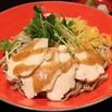 レシピ画像:鶏と水菜の梅ドレそば