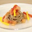 レシピ画像:トマトとパプリカの冷製パスタ