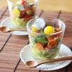 レシピ画像:ダッタンそばのパスタで作る つぶつぶジュレのカップサラダ