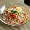 レシピ画像:冷麺風そばパスタ