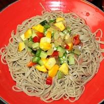 レシピ画像:夏野菜やたら風冷しそば