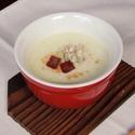 レシピ画像:そばの実とサツマイモのポタージュ