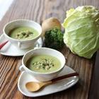 レシピ画像:春キャベツとつぶつぶパスタのポタージュ