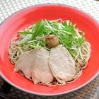 レシピ画像:鶏と水菜のサラダ風そば