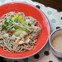 レシピ画像:海老と夏野菜の冷かけそば