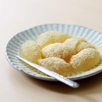 レシピ画像:片栗粉で簡単!そば茶わらび餅風