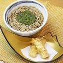 レシピ画像:めかぶそば と 筍のはさみ揚げ