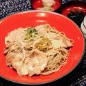 レシピ画像:生姜香る米豚サラダそば