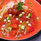 レシピ画像:完熟トマトのジュレのせそば