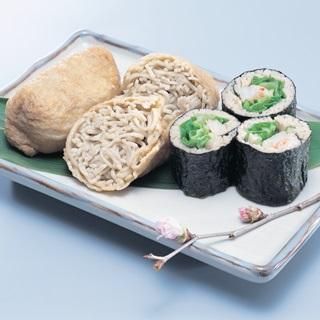 レシピ画像:そば寿司(巻き寿司・お稲荷さん)
