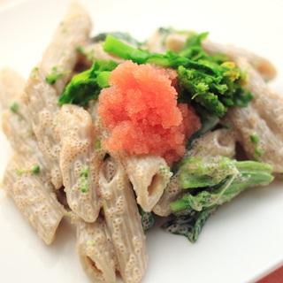 レシピ画像:春の前菜!たらこと菜の花の春色クリームペンネ