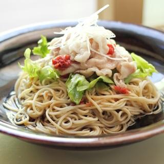 レシピ画像:梅冷しゃぶのサラダそば