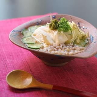 レシピ画像:そば米の冷や汁