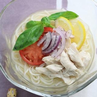 レシピ画像:イタリアン風 ひやむぎ