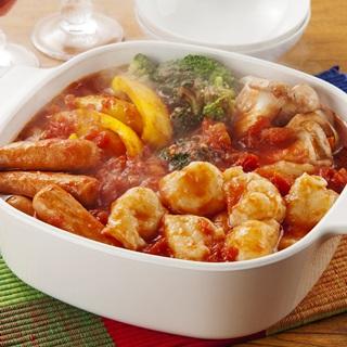 レシピ画像:トマトすいとん鍋