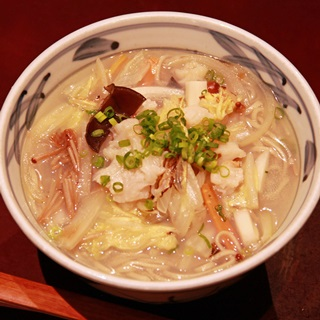 レシピ画像:帆立と白菜の白湯そば