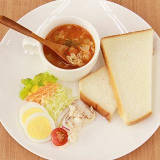 レシピ画像:トマトのスープパスタ