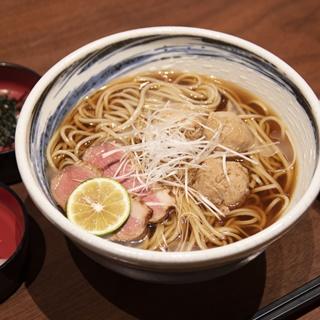 レシピ画像:青柚子薫る冷製鴨南蛮そば