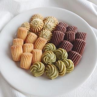 レシピ画像:花ころもで作る 絞り出しクッキー