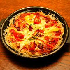 レシピ画像:パリパリそばピザ