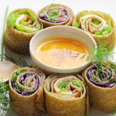 レシピ画像:ベーコンと生ハムのおつまみガレット