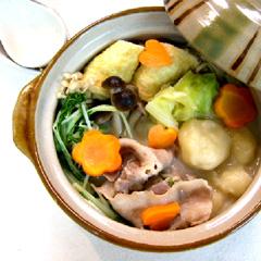 レシピ画像:すいとん豆乳鍋