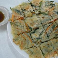 レシピ画像:も~っちり海鮮チヂミ