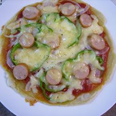 レシピ画像:ピザ風お好み焼き